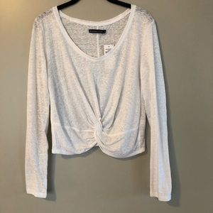 NWT White Abercrombie Long Sleeve Top